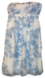 Gap Print Floral Soft Silk Flowy Dress