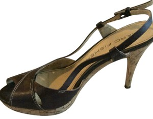 Marc Fisher Brown and tan Pumps