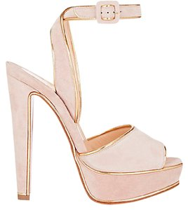 Christian Louboutin Heels Sandals Louloudance Light Pink Platforms