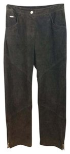 St. John Sport by Marie Gray Brown Suede Leather Pants