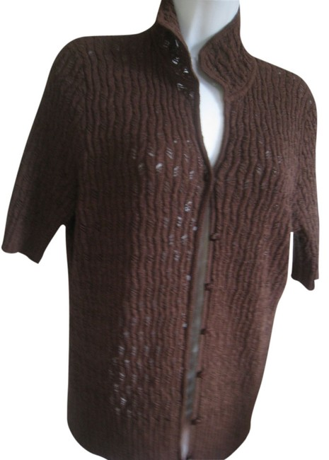 Preload https://item5.tradesy.com/images/sigrid-olsen-brown-cotton-little-sweater-button-down-top-size-12-l-2057339-0-0.jpg?width=400&height=650