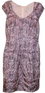 Banana Republic short dress Purple Silk Flowy Signature Print Soft on Tradesy