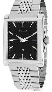 Gucci Gucci Men's G-Timeless Stainless Steel Black Dial