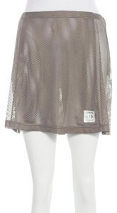 Chanel Interlocking Cc Monogram Cc Logo Sheer Mini Skirt Purple, Grey, Silver