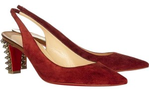 Christian Louboutin 70mm Slingbacks Lemer Red Pumps