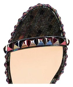 Christian Louboutin Cataclou Studded Wedge Sandal, multicolor Wedges