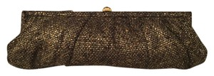 Kotur Tweed Black And Swarovski Gold Clutch
