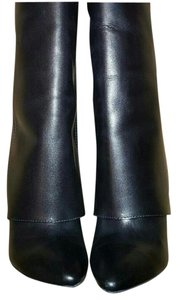 Enzo Angiolini Over The Knee Leather Pant Style Black Boots