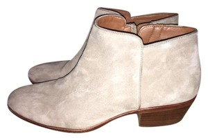Sam Edelman Round Toe Suede Casual Party Tan-Putty Suede Boots