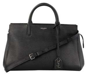 Saint Laurent Rive Satchel in Black
