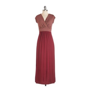 Red Maxi Dress by Modcloth