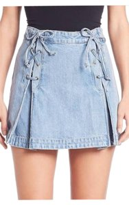 Free People Mini Skirt Light Blue