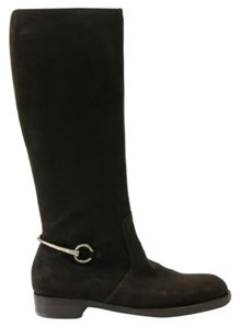 Gucci 354004 Womens Suede Horsebit 4111 Display Brown Boots