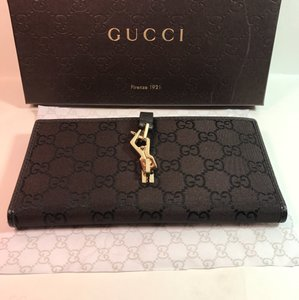 Gucci New Gucci 150397 Brown Canvas Leather GG Guccissima Clutch Coin Wallet