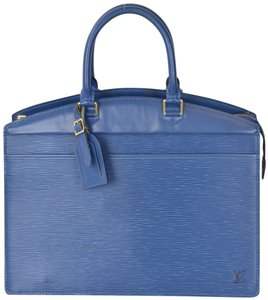 Louis Vuitton Epi Leather Riviera Satchel in Blue