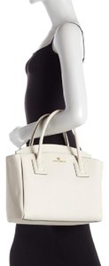 Vince Camuto Leather Satchel in Cream