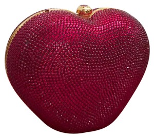 Judith Leiber Crystal Heart Crystal Heart N Soul Red Clutch