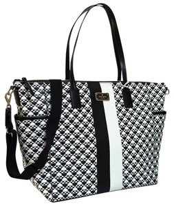 Kate Spade White Black Diaper Bag