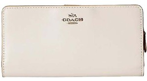 Coach Coach 51936 Madison Chalk Leather Zip Around Skinny Wallet