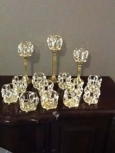 Elegant Gold And Crystal Votives