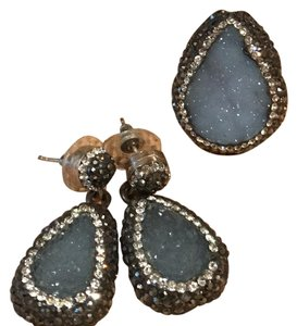 Fire and Ice Fire and Ice Druzzi earrings and adjustable size ring.
