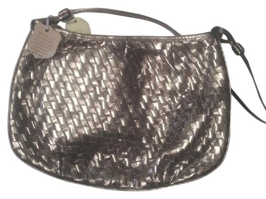 David Mehler Leather Long Strap Free Shipping Missing Box Gold & Silver Clutch