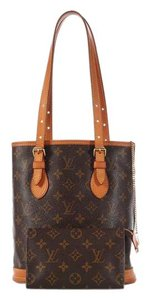 Louis Vuitton Cosmetic Case Gold Hardware Lv.k1117.08 Small Canvas Tote