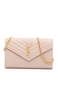 Saint Laurent Pale Pink Ghw Woc Shoulder Bag