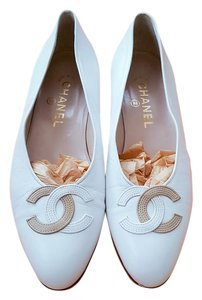 Chanel Luxury Classic Reduced!white Flats