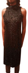 Victoria's Secret Vintage Sequin High Neck Keyhole Dress