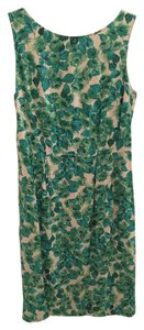 Boden short dress Green Lined Floral on Tradesy