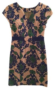 Boden short dress Blue Lined Floral Tapestry on Tradesy