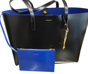 Saint Laurent Tote in Blue/Black