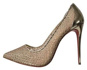 Christian Louboutin So Kate Pigalle Follies Follies Lace Mesh Gold Pumps