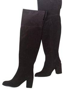 Seychelles Boot Over The Knee Leather Brown Suede Boots