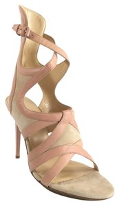 Balenciaga Leather Suede Pink/Beige Sandals