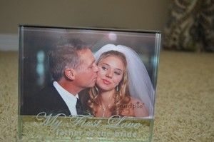 Glass Photo From For Father Of The Bride