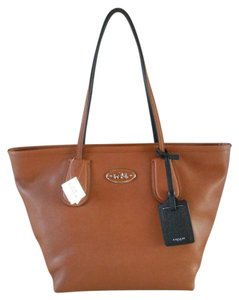 Coach Tote in Saddle Brown