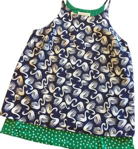 Anthropologie Top Navy and Green