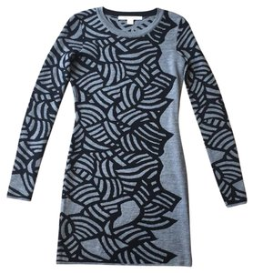 Diane von Furstenberg short dress Black & Gray on Tradesy