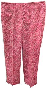 Lilly Pulitzer Capri/Cropped Pants Pink and White