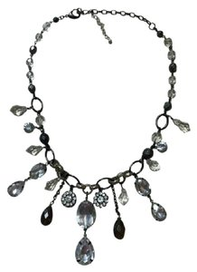 White House | Black Market Gorgeous Crystal And Silver Statement Necklace
