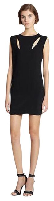 Preload https://img-static.tradesy.com/item/20575109/line-and-dot-black-cutout-peek-a-boo-shift-short-night-out-dress-size-2-xs-0-1-650-650.jpg
