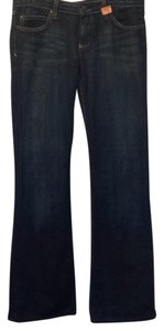 Juicy Couture Metallic Hardware Denim Boot Cut Jeans-Medium Wash