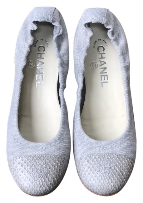 Item - Gray Ballet Canvas Neutral Snake Tip Ballerina Flats Size EU 36.5 (Approx. US 6.5) Regular (M, B)