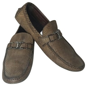 Louis Vuitton Loafers Menshoes Python Limited Edition Brown Flats