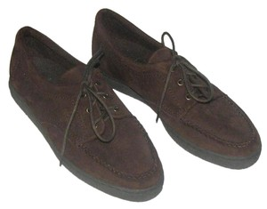 Easy Spirit Suede Loafers Lace-up Tie Brown Flats