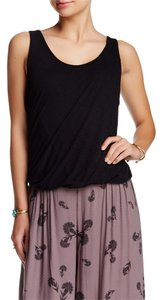 Free People Cutaway Eyelet Top black
