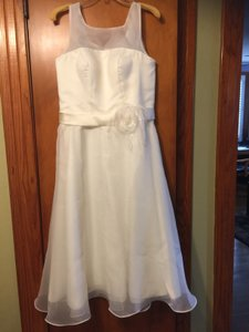 Romantic 1950s Tea Length Wedding Dress Wedding Dress