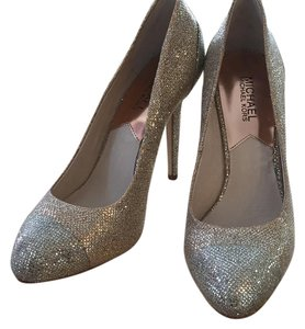 Michael Kors gold with silver sparkle toe Pumps